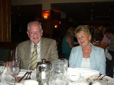 Gerry and Rosemary after the Birthday meal