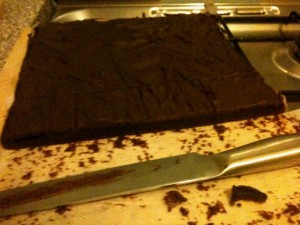 Vegan chocolate tray bake