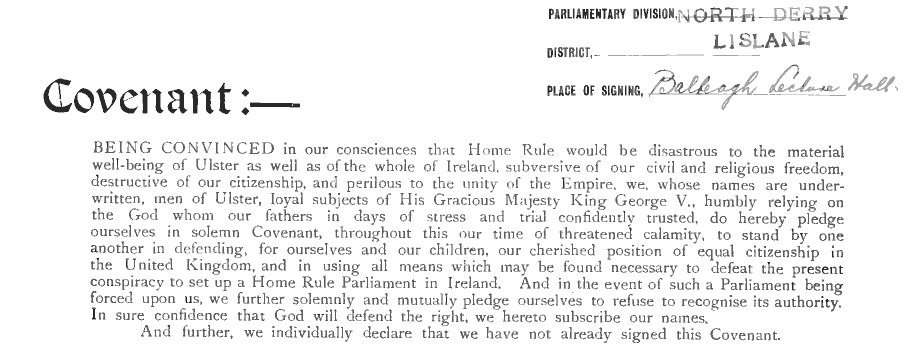 Ulster Covenant (men)