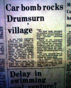 Car bomb rocks Drumsurn village
